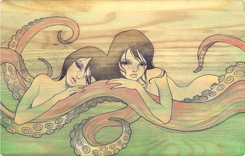 art,sea,creatures,audrey,kawasaki,painting,girls,illustration-113888af60d61e5a7b582044ac616327_h